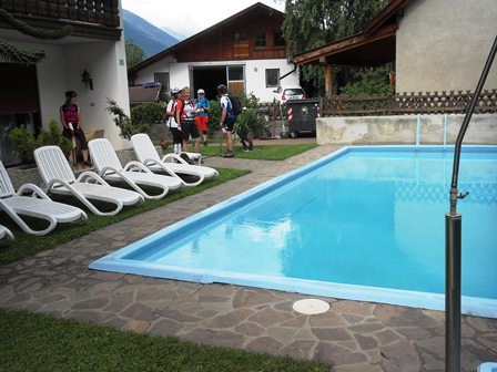 Unser Pool in Morter